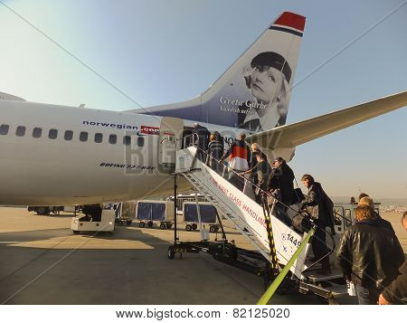 Oslo Gardermoen, Norway - November 3:aircrafts At Oslo Gardermoen International Airport On November