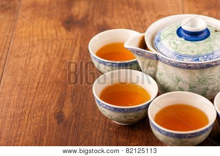 Still life of tea crockery