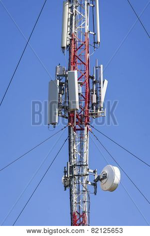 Mobile communications tower.