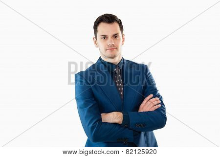 Handsome professional businessman isolated on white
