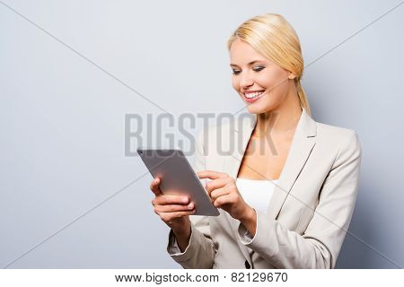 Businesswoman With Digital Tablet.