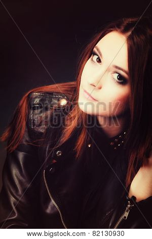 People Concept - Teenage Fashion Girl Portrait
