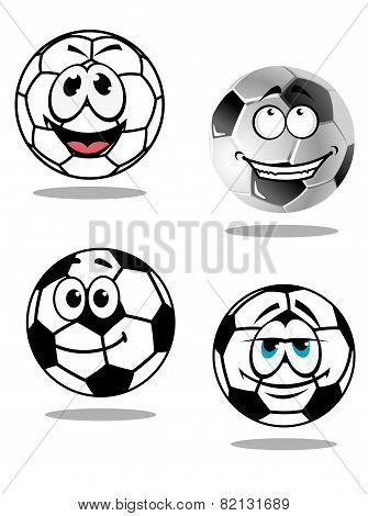 Cartoon soccer or football  characters