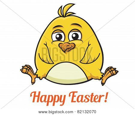 Cute little yellow Easter chick