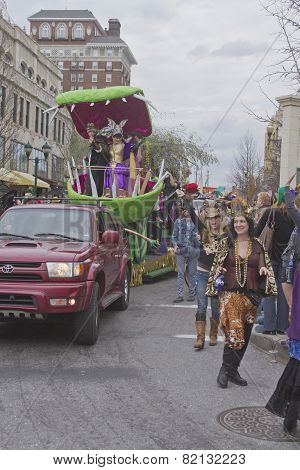 Royalty Amid Misrule In The Mardi Gras Parade