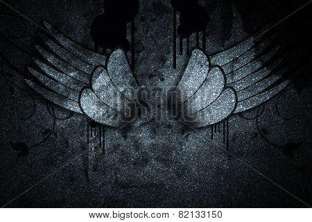 Wing On The Dark Wall Illustration