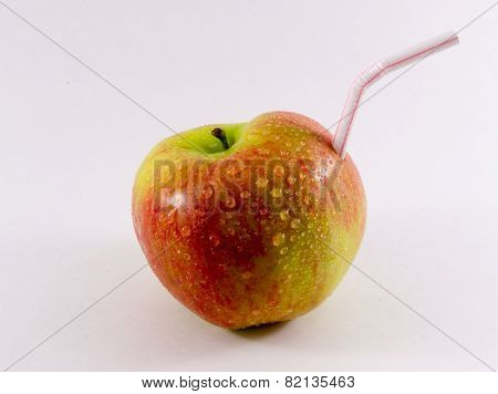 A Apple Drink Straw