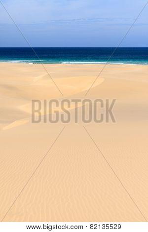 Dunes And Beach In Boavista, Cape Verde