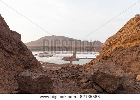 Salinas In Sal Cape Verde , Cabo Verde..