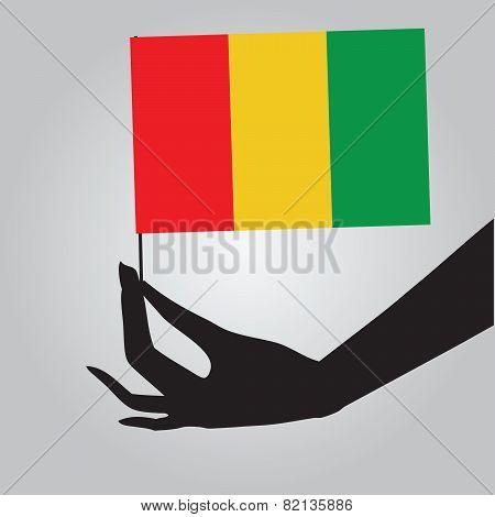 Hand With Flag Guinea