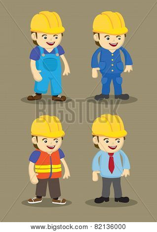 Building And Construction Industry Vector Cartoon Characters