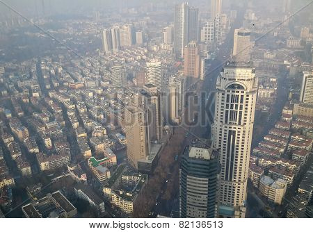 Aerial View Of Nanjing China