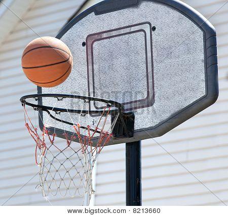 Backyard Basketball Hoop And Ball