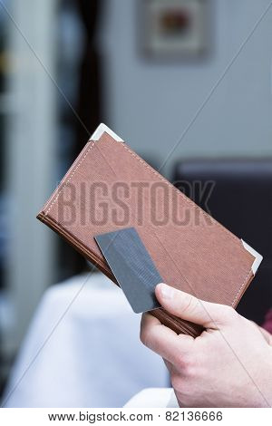 Bill Cover And Credit Card.