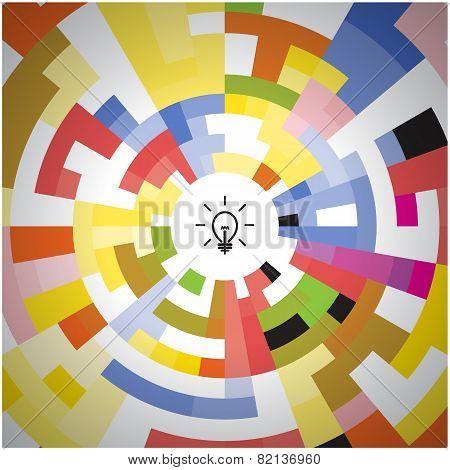 Creative Circle Abstract Vector Logo Design Background.