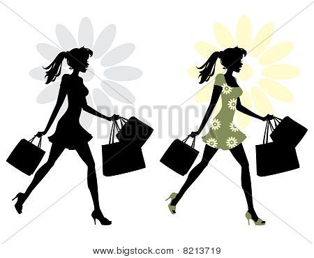 Young woman while Shopping