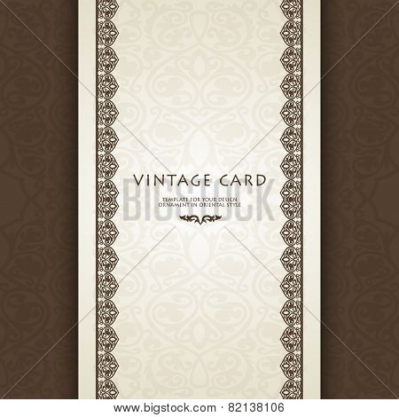 Luxury gold border on seamless background.