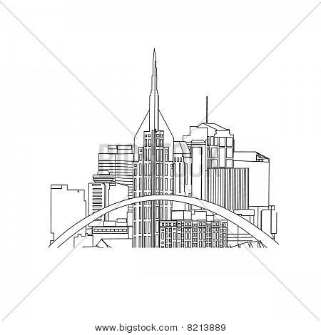 Nashville TN line drawing