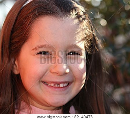 Pretty Little Girl With Happy Expression
