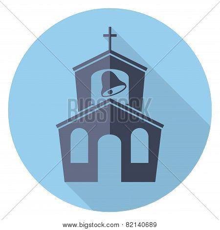 Vector Flat Symbol Or Icon Of Church Building