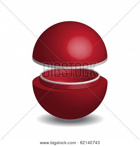 Cosmetic Packaging, Cream, Powder Or Gel Jar With Cap, Vector