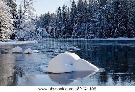 River in winter