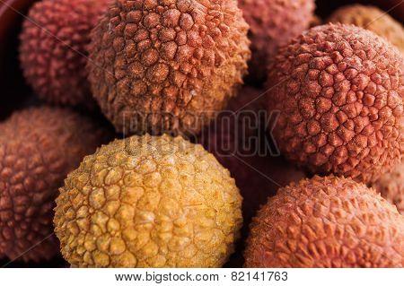 Ripe fruit litchis