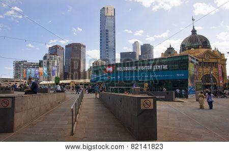 Melbourne.., Australia.. - December 30, 2014: Melbourne Visitor