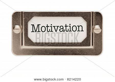 Motivation File Drawer Label