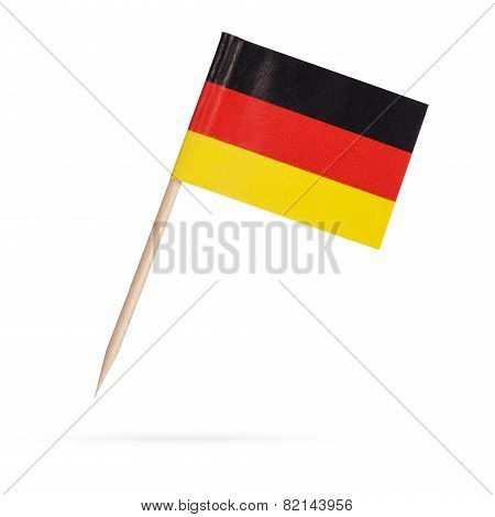 Miniature Flag Germany. Isolated On White Background