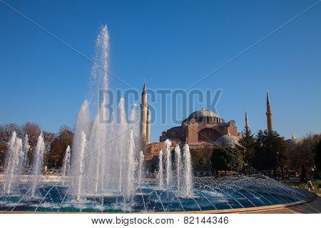 The Beautiful Hagia Sofia In Istanbul.