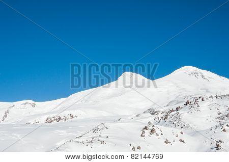 Mount Elbrus, The Highest Peak Of Europe