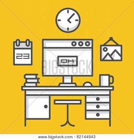 Working computer desk