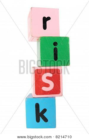 Risk In Toy Play Block Letters