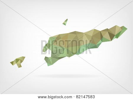 Low Poly map of East Timor