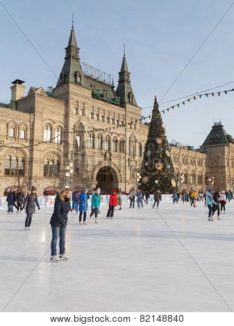 Rink On Red Square, Moscow