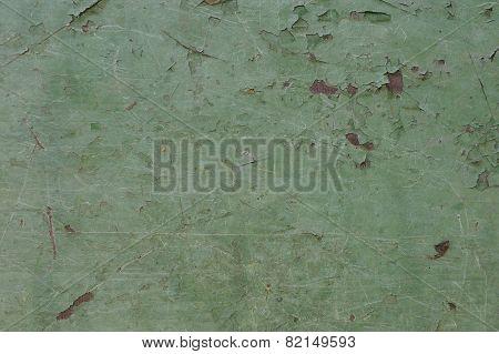 Green Peeling Paint Background