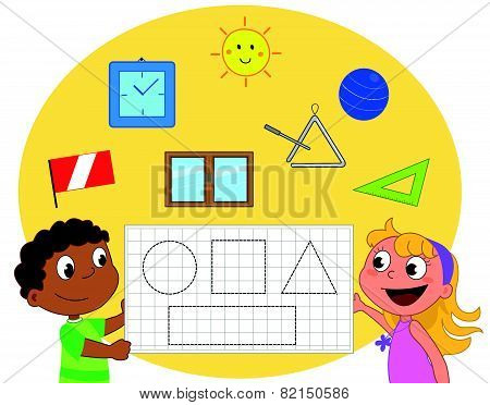 Geometry game about shapes