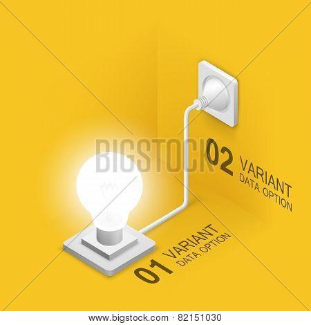 Lamp plugged in
