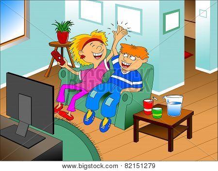 Children Watch Television