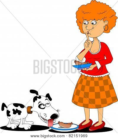 Housewife And Dog