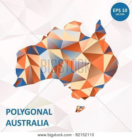 Vector poligonal Australia