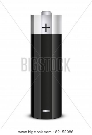 Realistic battery icon. Vector illustration