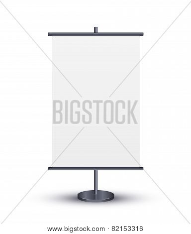 Vector ROLL UP DISPLAY for designers
