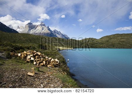 Lake Pehoe, Chile