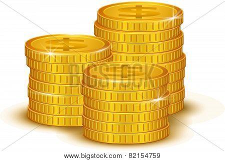 Gold Coins. vector