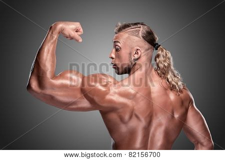 Attractive male body builder