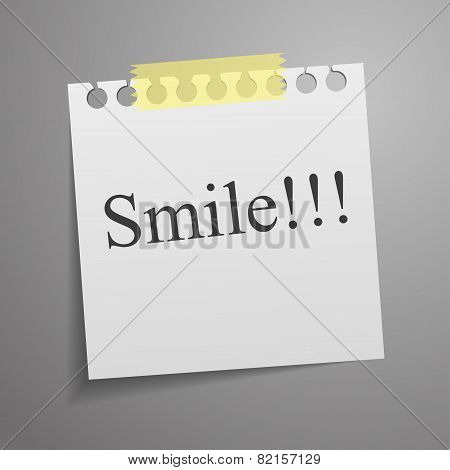Motivation concept on torn notepaper. Vector illustration.