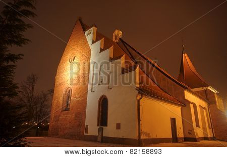 Gothic church in the night