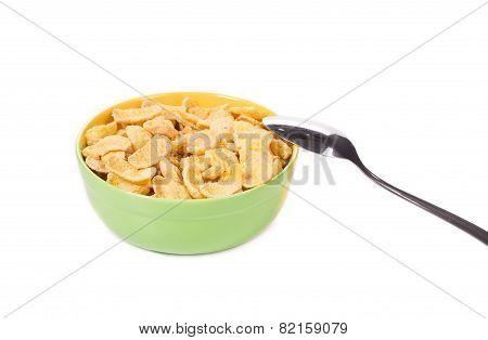 Bowl of corn flakes